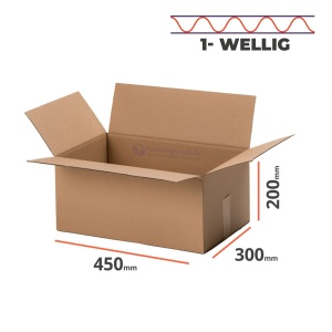 100 Karton Faltkarton Faltschachteln 450 x 350 x 200 mm